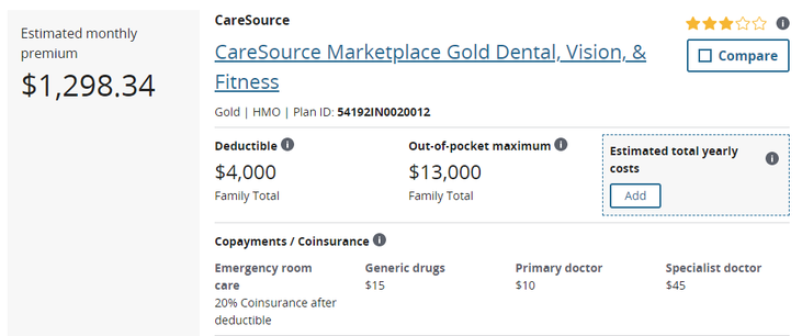 Health Insurance Cost for Married 40 Year Old
